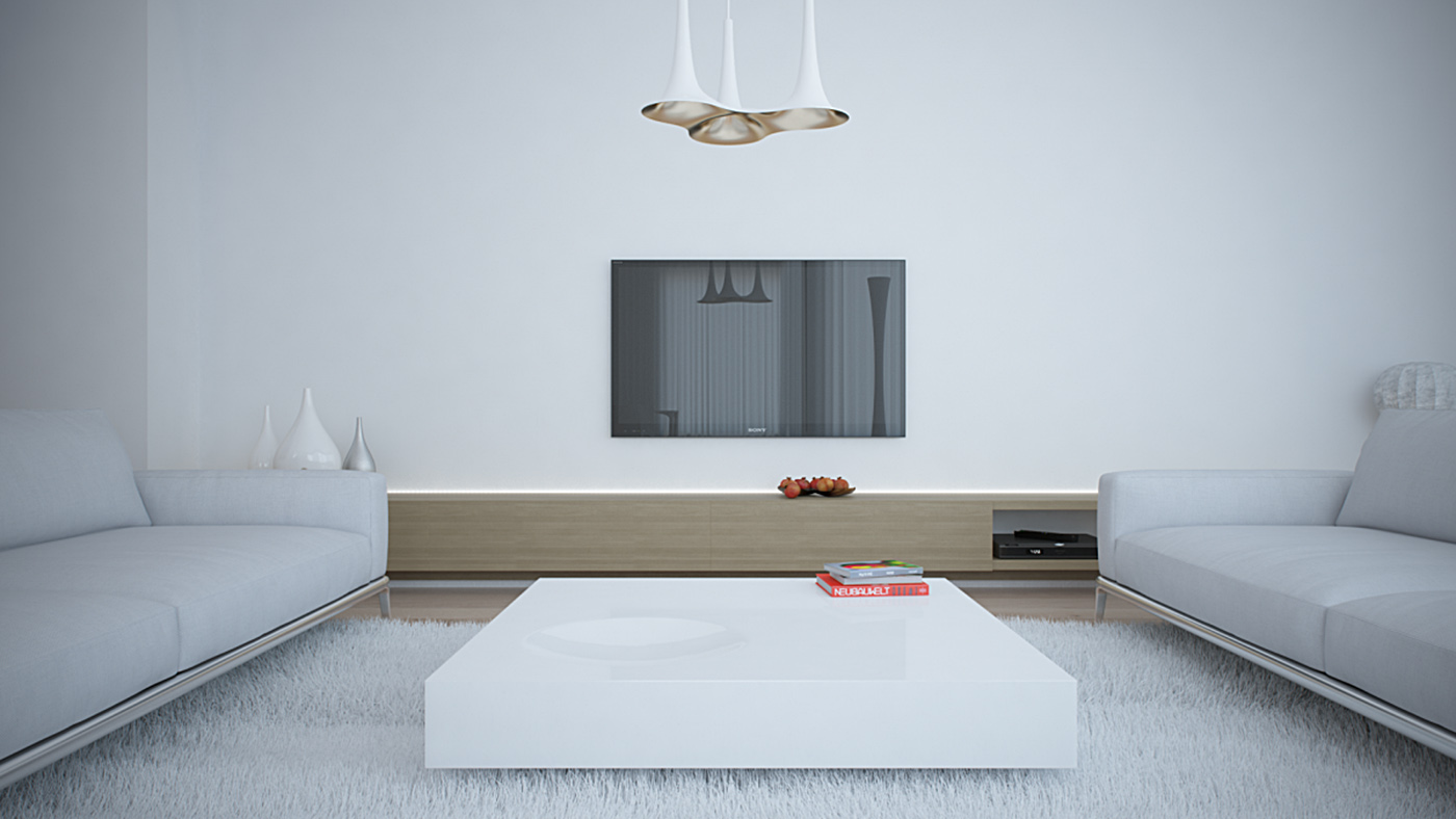 white apartment living room 2 _ aet piel design